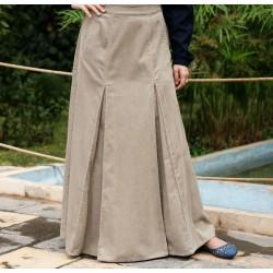 Flared Pleated Skirt - Flared Box Pleated Skirt [wT1521]