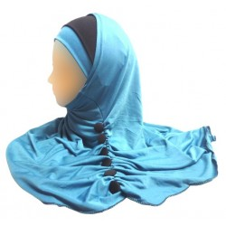Hijab with buttons - 2 pieces