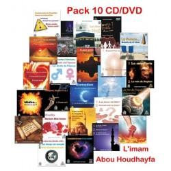 Pack 10 CD/DVD de cours et prêches et conférences en langue française de L'Imam Abou...