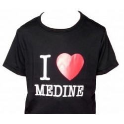 "Children's T-Shirt ""I LOVE MEDINE"" - (White or Black - 100% cotton)"