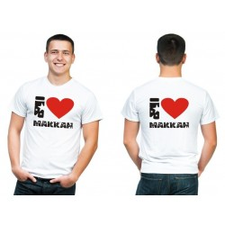"Customizable TShirt ""I love Makkah"" (Stars)"