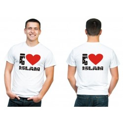 "Personalized T-Shirt ""I love Islam"" (Stars)"