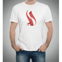 "Customizable T-Shirt with artistic Arabic calligraphy ""Patience"" - الصبر"