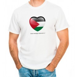 "Customizable T-Shirt ""I love Palestine"" (Heart in the colors of the Palestinian flag)"