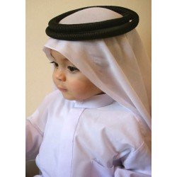 Long Qamis for baby (collar and long sleeves) - Size 16 (From 3 to 6 months)