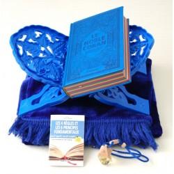 Pack Cadeau Bleu : Le Noble Coran Rainbow (Arc-en-ciel) Bilingue français/arabe, Livre...