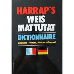 Harrap's Weis Mattutat Dictionnaire Allemand-Français/Français-Allemand