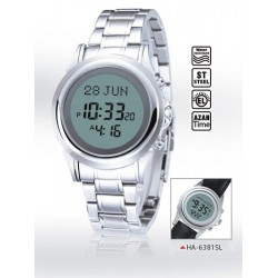 Digital watch with prayer times (automatic calculation of prayer times) - De Luxe Model...