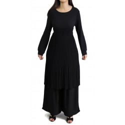 Flared pleated tunic (Several colors available)