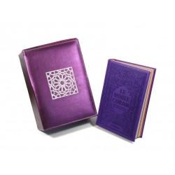 Coffret/Pack Cadeau Violet (français/arabe) : Le Saint Coran Rainbow et Coffret...