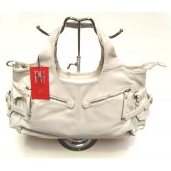 Handbag with zipped pockets - White