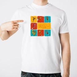 Customizable Football Icons T-Shirt
