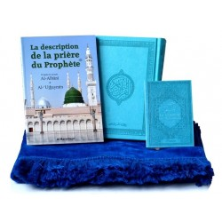 Pack Cadeau Prière Bleu : Le Saint Coran + La Citadelle du musulman + La description de...