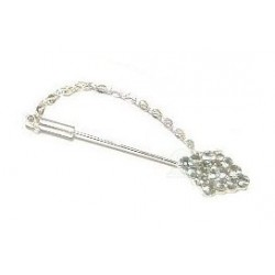 Silver plated hijab brooch pin crystal diamond-shaped diamonds