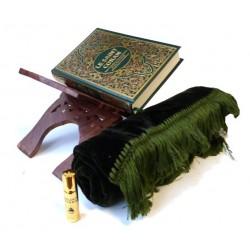 Pack cadeau : Le Saint Coran arabe avec traduction en langue française +Tapis en velour...