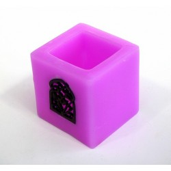 Small Moroccan decorative candle holder in purple color