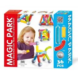 Magic Park : Jeu d'assemblage et de construction (36 pièces)
