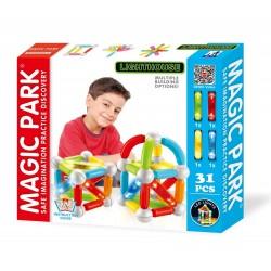 Magic Park : Jeu d'assemblage et de construction avec lumières LED (31 pièces)