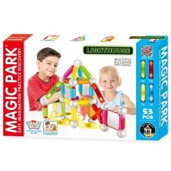 Magic Park : Jeu d'assemblage et de construction avec lumières LED (53 pièces avec...