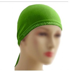 Green beaded hat