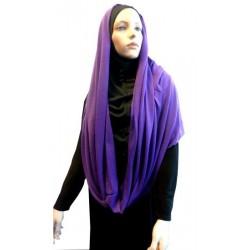 Hijab snood purple color (cylindrical shawl)
