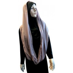 Hijab snood couleur vieux rose (châle cylindrique)