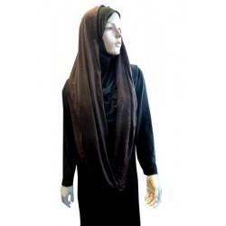 Hijab snood brown color (cylindrical shawl)
