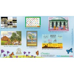 Pack of 6 Large Bilingual Educational Puzzles (French / Arabic)