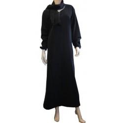 Abaya brand Al-Haya simple black with elastic sleeves