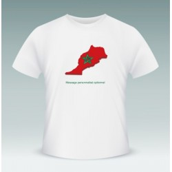 "Customizable T-Shirt ""Morocco"" (the Moroccan flag within the Moroccan borders)"