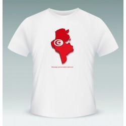 "Customizable T-Shirt ""Tunisia"" (the Tunisian flag within the Tunisian borders)"