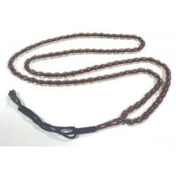"Ultra-resistant ""Sebha"" rosary transparent garnet (99 oval beads)"