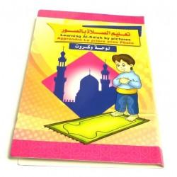 """Livre Poster Dépliant """"Apprendre la prière avec photo"""" - Garçons - Filles (arabe /..."""