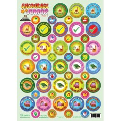 """Pack of 208 """"House 1 + 2"""" reward and encouragement stickers (Encourage Junior)"""