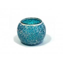 Bougeoir - Porte bougie sous forme de bol en verre mosaïque coloré :