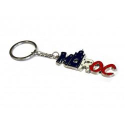 """Porte clés en métal avec inscription """"Maroc"""" en lettre"""