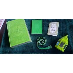 Pack Cadeau Musulman de couleur Verte : Le Noble Coran Rainbow (français/arabe) -...