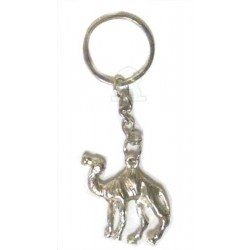 Moroccan handcrafted keychain in the shape of a dromedary made in silver metal
