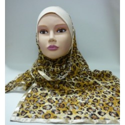"Hijab ""Amel"" with tiger style patterns - 1 piece"