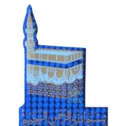 """Sticker the """"Kâba"""" (Kaaba) holographic blue and basmala"""