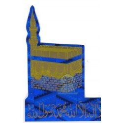 "Sticker ""Kâba"" (Kaaba) Holographic blue and chahada"