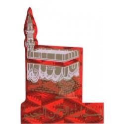 "Sticker ""Kâba"" (Kaaba) holographic red and basmala"