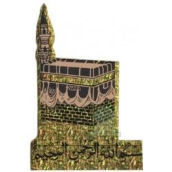 "Sticker ""Kâba"" (Kaaba) holographic yellow and basmala"