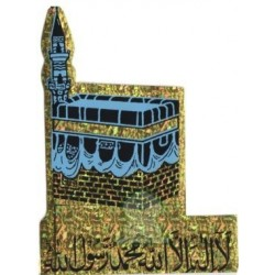Holographic blue sticker the Kâba (Kaaba) and the certificate of Muslim faith - chahada