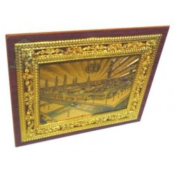"""Golden holographic painting """"The Mosque of Medina"""""""