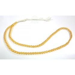 "Ultra-resistant transparent yellow ""Sebha"" rosary (99 round beads)"