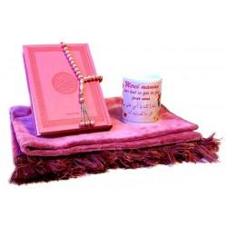 Coffret Cadeau musulman pour Maman : Tapis de prière + Coran (arabe) + Chapelet + Mug...
