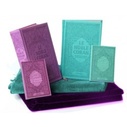 Coffret/Pack Cadeau Couple/Mariage : Le Saint Coran avec couleurs Arc-en-ciel, La...