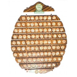 Oval wooden hanging painting The 99 Names of God