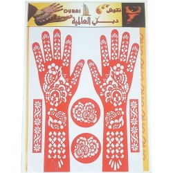 Large plate with motifs for Temporary Tattoos (Self-adhesive models of hands, feet ...)
